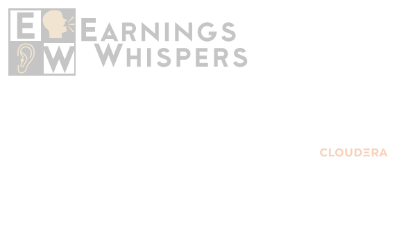 Earnings Whisper Number For Cldr Cloudera
