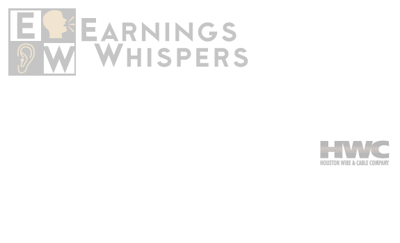 Earnings Whisper Number for HWCC: Houston Wire Cable